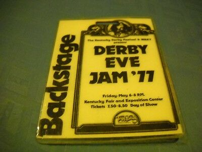 Backstage Pass for the Derby Eve Jam in Louisville KY 1977, Bob Seger