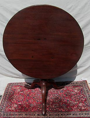 18th CENTURY QUEEN ANNE BOSTON MAHOGANY TILT TOP TEA TABLE IN ORIGINAL FINISH