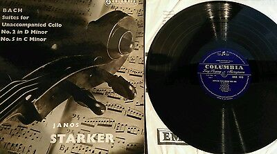 Columbia 33cx 1515 Bach Suites for unaccompanied Cello, Janos Starker, Ex Vinyl