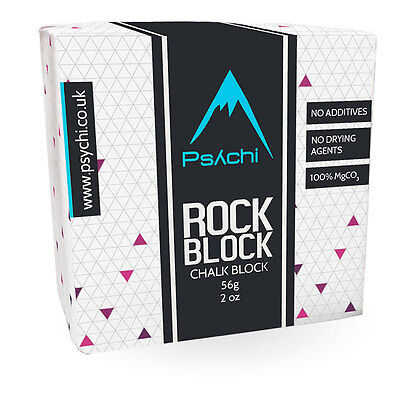 Psychi Chalk Block for Rock Climbing Gymnastics Bouldering Pole Dancing 55g
