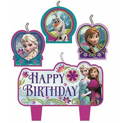 Party Decorations Birthday Supplies Girls Frozen Elsa & Anna Candles Pack of 4