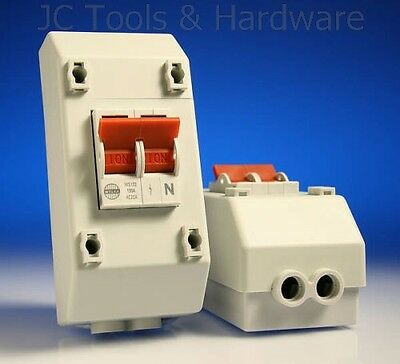 Wylex Isolator 100 Amp 2 Pole 100A Main Switch With Enclosure REC2S NEW