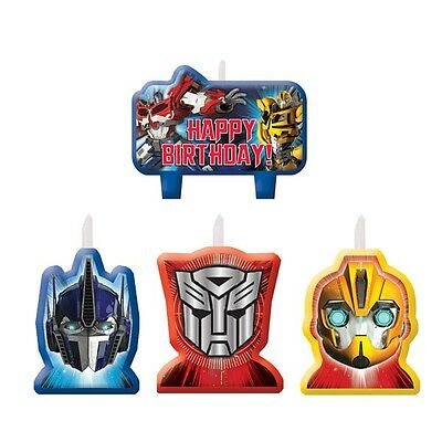 Party Decorations Boys Birthday Supplies Transformers Candles Pack of 4