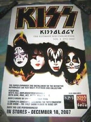 Kiss Kissology Nice Large Vintage Promo Poster NEVER USED 2007