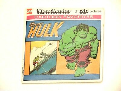 COMPLETE View Master Avengers  complete set Incredible Hulk