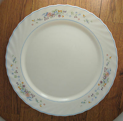 """Victoria by Arcopal France 12"""" chop serving plate floral with swirl edge"""