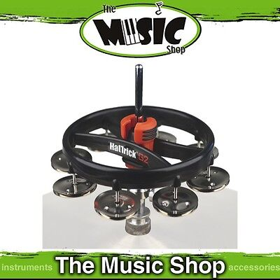 New Rhythm Tech Hat Trick G2 Hi-Hat Tambourine with Nickel Jingles - RT720