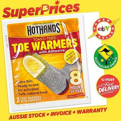 2 x HotHands Hand ◉ 1 Pair Toe Warmers ◉ Disposable ◉ 8 Hours Heat ◉ Ultra Thin◉