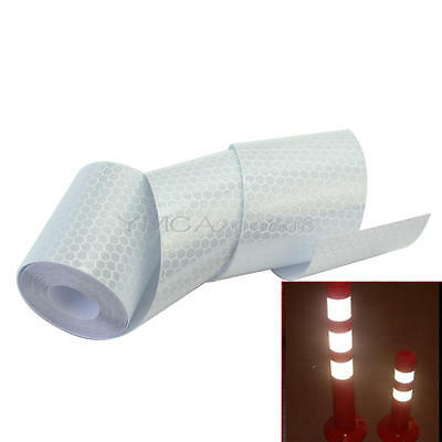 1 Roll 3m Silver Tone Reflective Safety Warning Conspicuity Tape Sticker 5cm Wid