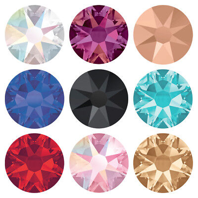 Genuine SWAROVSKI 2058 & 2088 Flat Back Crystals * All Popular Colors & Sizes