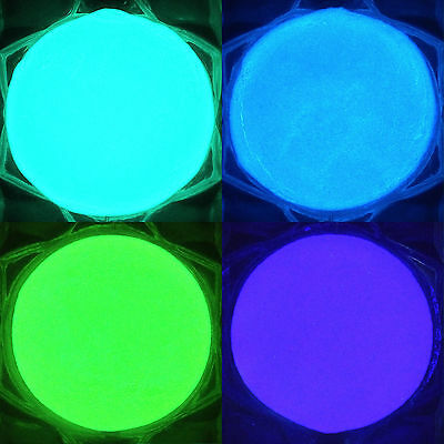 Glow-in-the-Dark Powder Aqua/Blue/Green/Purple Strontium Aluminate Glow Pigment