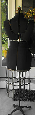 ANTIQUE Collectible ACME Collapsible Dressmakers w/Skirt Cage form with Rollers