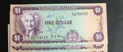 JAMAICA   P 59a   1 Dollar   L. 1960 (1976)  sign Brown  UNC    lot of 3