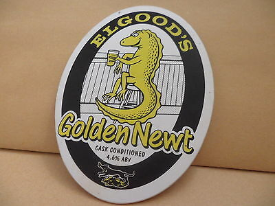 Elgoods Golden Newt Ale Beer Pump Clip face Bar Collectible 13