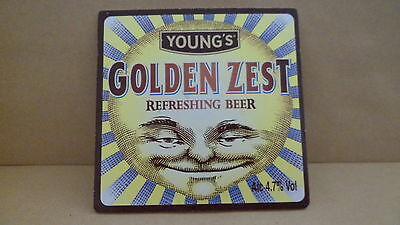 Youngs Golden Zest Ale Beer Pump Clip face Bar Collectible 66