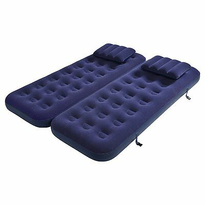 Jilong 3 in 1 Inflatable Single Double Air bed with 2 Cushions