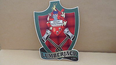 Brentwood Brewing Lumberjack Ale Beer Pump Clip Pub Collectible 4