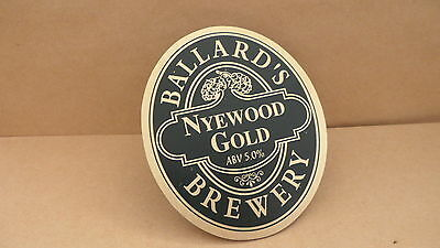 Ballards Nyewood Gold Ale Beer Pump Clip Pub Bar Collectible 69