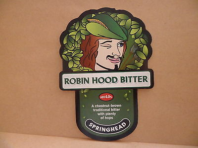 Springhead Robin Hood Bitter Ale Beer Pump Clip face Bar Collectible