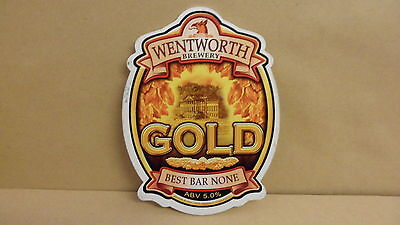 Wentworth Brewery Gold Ale beer Pump Clip face Bar Collectible 10