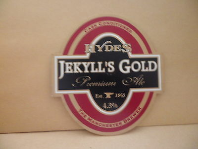 Hydes Jekylls Gold Ale Beer Pump Clip face Pub Bar Collectible 58