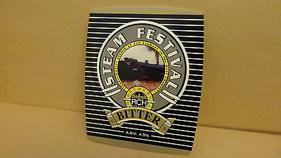 RCH Steam Festival Bitter Ale Beer Pump Clip face Bar Pub Collectible
