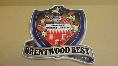 Brentwood Brewing Co Brentwood Best Ale beer Pump Clip face Bar Collectible 31