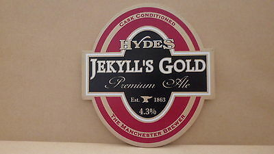 Hydes Jekyll's Gold Ale Beer Pump Clip Face Pub Bar Collectible 21