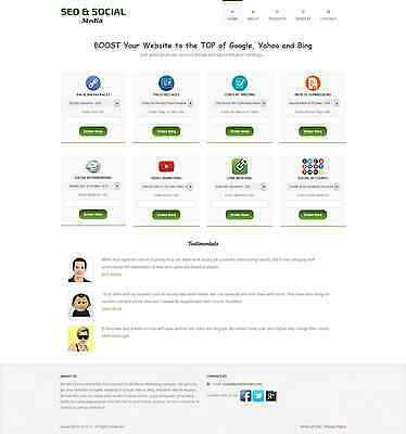 Premium Seo Services Reseller Business Website For Sale - Free Installation