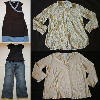 Maternity Lot Jeans Dress Tops Gap Motherhood Fall Spring 5 pc sz Large L
