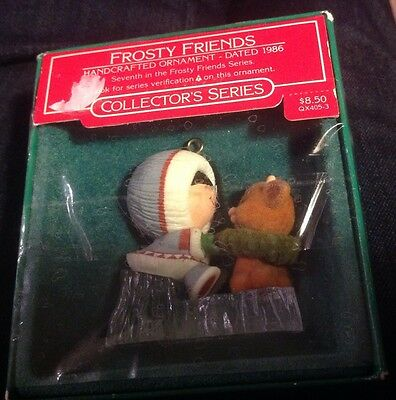 1986 Frosty Friends Hallmark Ornament QX4053 7th in Series In Used Box Collectib