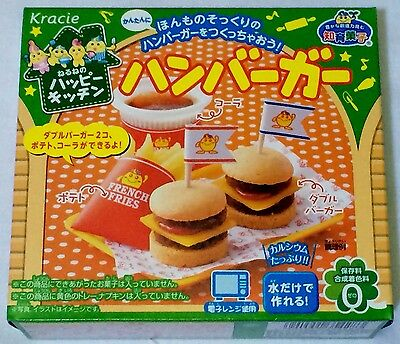 kracie popin cookin happy kitchen Japanese candy making kit Hamburger