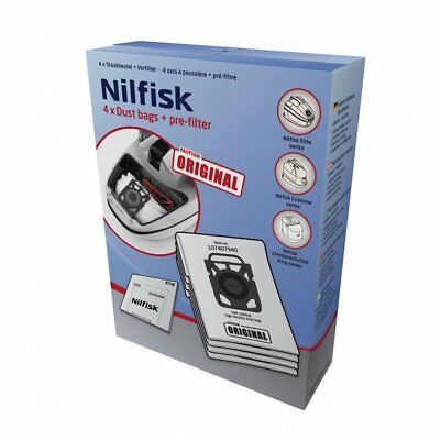 Nilfisk Genuine King, Elite & Extreme Vacuum Bags 4 + Filter - X100 X200 X300