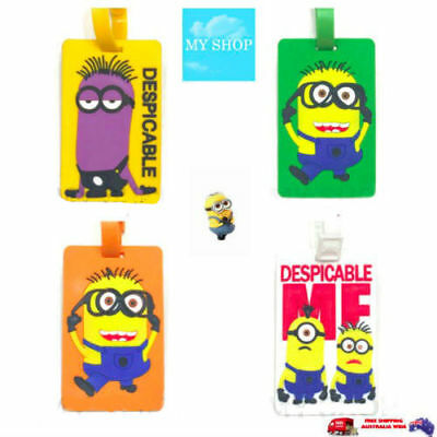 Despicable Me Minion Funny Cute Name Tag, Id Lable For Luggage, Suitcase, Bag