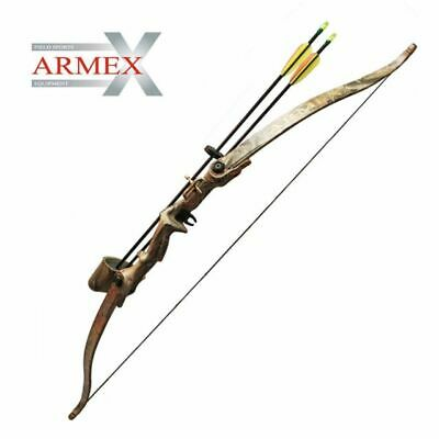 Warrior Recurve Youth Bow Set / Longbow Kit - Black - Includes 5 Arrows