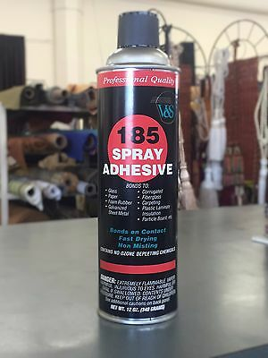 V&S 185 Spray Adhesive 12 oz Can Bonds Foam, Fabric, Corrguated, Carpet and more