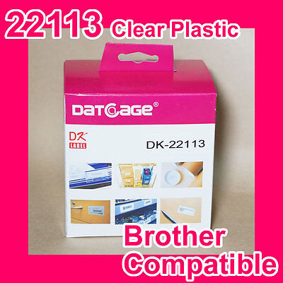 1 Roll of Compatible Brother DK-22113 Clear Continuous Film Roll