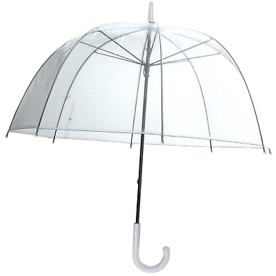 Birdcage Clear Dome Umbrella Wedding Rain Transparent Parasol Manual New