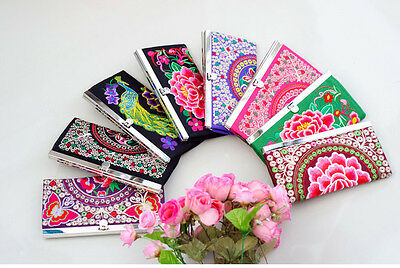 Wholesale6pcs Chinese Ethnic Retro Style Embroiderd Clutch Handbag Purse Wallet