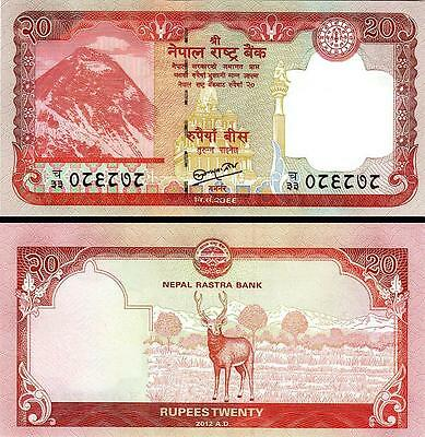 Nepal 20 Rupees 2012 Uncirculated P.71