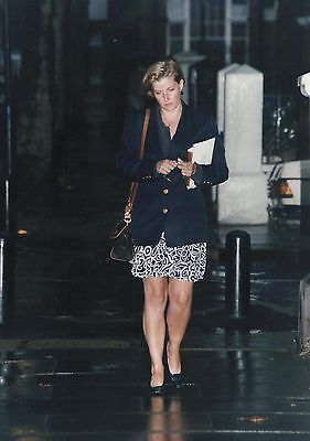 "SOPHIE RHYS-JONES ""Coming Home from Work"" Candid Photo by A. TURNER 1990's"