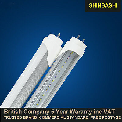 LED T8 Tube Light 2ft 3f 4ft 5ft Top Quaulity Inc VAT UK Fluorescent Replacement