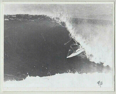Eddie Aikau At Haleiwa, 1968 Oahu Hand Printed By Photographer On 8X10 Matt