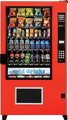 2 AMS Glass Front Combo Bottle/Snack Vending Machines Brand New ( The Outsider)