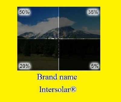 """WINDOW TINT FILM ROLL 5% 20% 35% 50% 24"""" x 10 FT Intersolar® 2 ply Made in USA"""