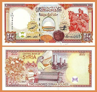 Syria 200 Pounds 1997 Uncirculated  P.109 Sultan Saladin