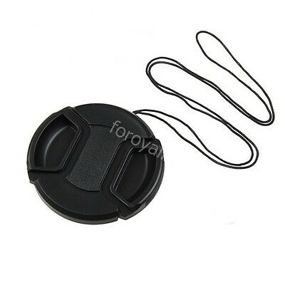 37mm Camera Lens Cap Cover Center Clinch Leash for Sony Nikon Olympus Pentax New