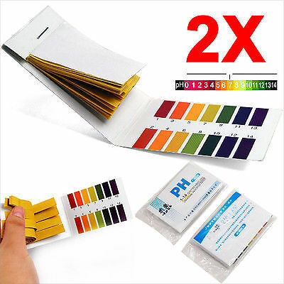160x PH1-14 Litmus Test Paper Strips Urine Saliva Tester Scale Indicator 7*4.5cm