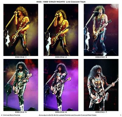 KISS Photos 4x6 inch Set of 11 Prints 1990 Hot In The Shade Tour Live Concert 1
