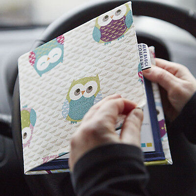 Disabled Parking Permit Blue Badge Holder in Owls Fabric Hologram Safe
